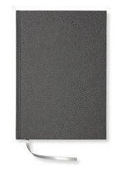 Blank Book textil olinjerad antracit A5