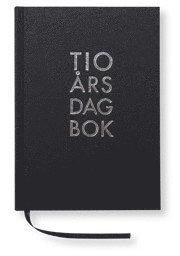 10-års dagbok A5 textil svart