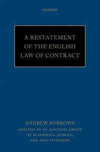 Restatement of the English Law of Contract (e-bok)