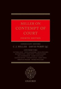 Miller on Contempt of Court (e-bok)
