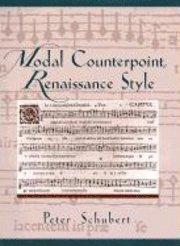 Modal Counterpoint, Renaissance Style av Peter Schubert (Spiral / Comb  Bound)