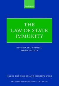 The Law of State Immunity (häftad)