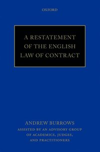 A Restatement of the English Law of Contract (häftad)