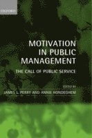 Motivation in Public Management (inbunden)