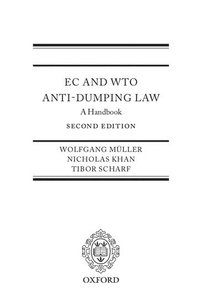 EC and WTO Anti-Dumping Law (inbunden)
