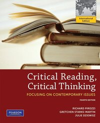 Critical Reading Critical Thinking 4e PIE : Focusing on Contemporary Issues