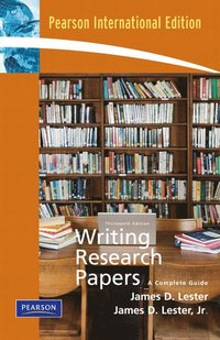 writing research papers james d lester James d lester, (late the definitive research paper guide, writing research papers combines a traditional and practical approach to the research process.