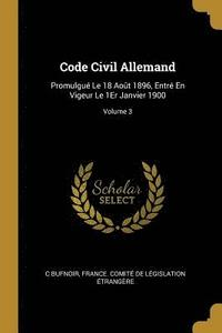 Code Civil Allemand (häftad)
