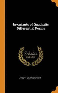 Invariants of Quadratic Differential Forms (inbunden)