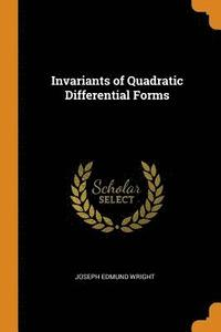 Invariants of Quadratic Differential Forms (häftad)