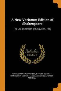New Variorum Edition Of Shakespeare (häftad)