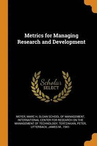 Metrics for Managing Research and Development (häftad)