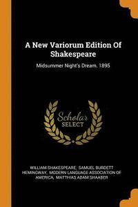A New Variorum Edition of Shakespeare (häftad)