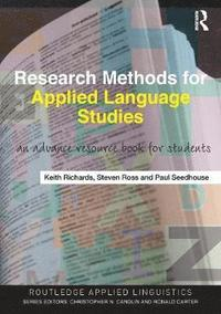 Research Methods for Applied Language Studies (häftad)