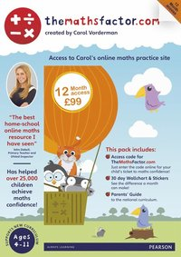 The Maths Factor: 12 Months Access to Carol Vorderman's themathsfactor.com