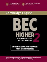 Cambridge BEC 2 Higher Student's Book with Answers (häftad)