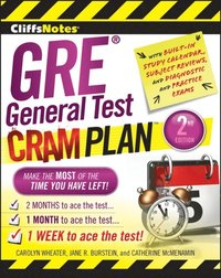 CliffsNotes GRE General Test Cram Plan 2nd Edition (e-bok)