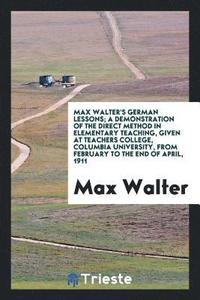 Max Walter's German Lessons
