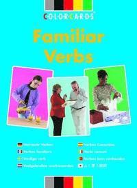 familiar verbs colorcards speechmark cards 9780863885198 bokus