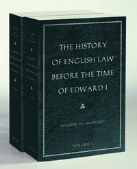 The History of English Law Before the Time of Edward I (häftad)