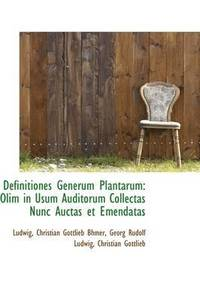 Definitiones Generum Plantarum (inbunden)