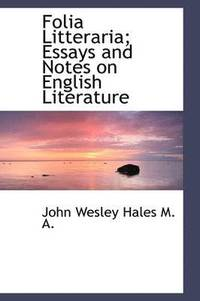 Folia Litteraria; Essays and Notes on English Literature (häftad)