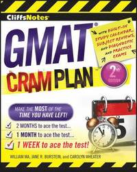 CliffsNotes GMAT Cram Plan: 2nd Edition (häftad)