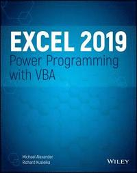 Excel 2019 Power Programming with VBA (häftad)