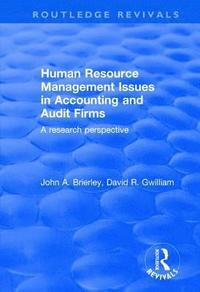 Human Resource Management Issues in Accounting and Auditing Firms (häftad)