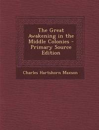 Great Awakening in the Middle Colonies (häftad)