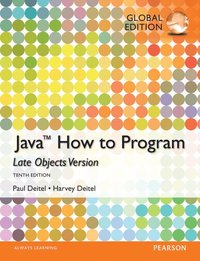 Java: How to Program (Late Objects), Global Edition