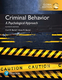 Criminal Behavior: A Psychological Approach, Global Edition (e-bok)