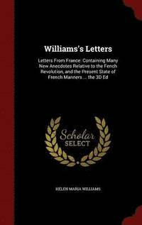 Williams's Letters (inbunden)