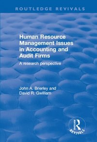 Human Resource Management Issues in Accounting and Auditing Firms: A Research Perspective (e-bok)
