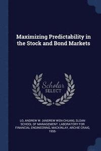 Maximizing Predictability in the Stock and Bond Markets (häftad)