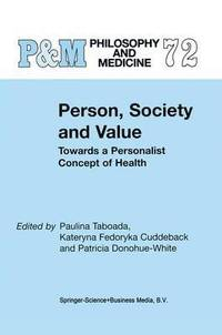 Person, Society and Value (inbunden)