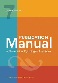 Publication Manual of the American Psychological Association (häftad)