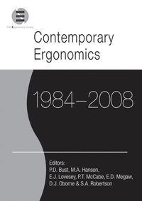 Contemporary Ergonomics 1984-2008 (e-bok)