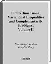 Finite-Dimensional Variational Inequalities and Complementarity Problems (häftad)