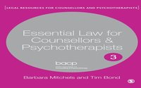 Essential Law for Counsellors and Psychotherapists (e-bok)