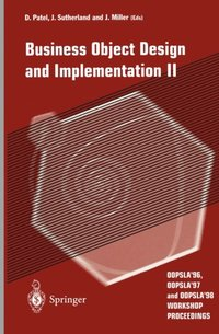 Business Object Design and Implementation II (e-bok)