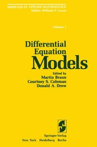 Differential Equation Models (e-bok)