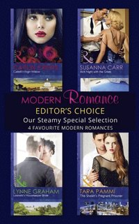 Modern Romance February 2016 Editor's Choice: Leonetti's Housekeeper Bride / The Sheikh's Pregnant Prisoner / Castelli's Virgin Widow / Illicit Night with the Greek (e-bok)
