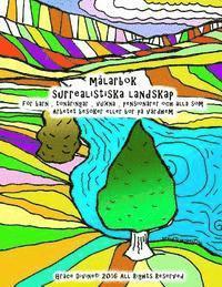 Skopia.it målarbok surrealistiska landskap för barn, tonåringar, vuxna, pensionärer och alla som Arbetet besöker eller bor på vårdhem Image