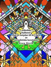 Skopia.it målarbok kalkoner med en antydan till Art Deco av surrealistiska konstnären Grace Divine Image