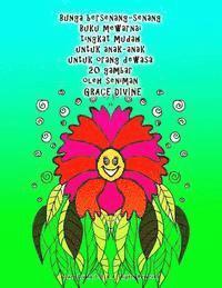 Bunga Bersenang Senang Buku Mewarnai Tingkat Mudah Untuk Anak Anak