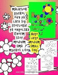 Skopia.it målarbok gyckel öva på lära sig ' storlekar ' på engelska Enorm stor medium små mycket liten Image