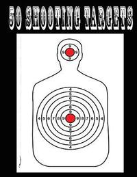BB /& Pellet Guns Pistols 50 Shooting Targets 8.5 x 11 Target or Bullseye: Great for all Firearms Silhouette Rifles AirSoft