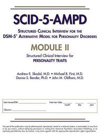 Structured Clinical Interview for the DSM-5 (R) Alternative Model for Personality Disorders (SCID-5-AMPD) Module II (häftad)