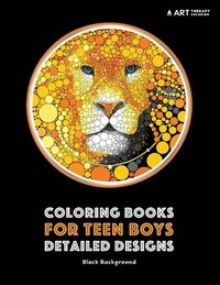Coloring Books For Teen Boys Detailed Designs Black Background